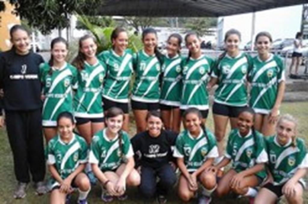 Handebol feminino de Campo Verde é bicampeão estadual