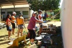 Parceria proporciona revitalização de parquinho em Centro Educacional