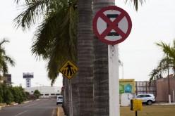 Cartazes em placas de trânsito são proibidos, alerta DMTU