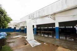 Chuva causa estragos e aulas são suspensas na Escola Monteiro Lobado