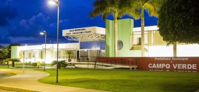 Prefeitura de Campo Verde fará teste seletivo; inscrições começam dia 1º