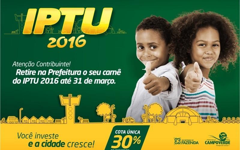 Carnês do IPTU/2016 estão disponíveis na SEFAZ/CV