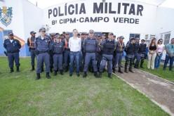 Prefeito recepciona alunos-soldados na 8ª CIAPM