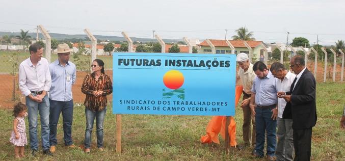 Prefeito Fábio participa do lançamento das obras da sede própria do STR de Campo Verde
