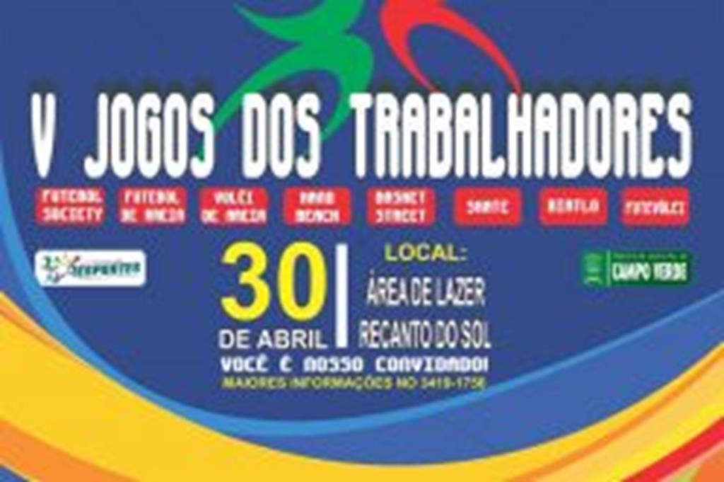 Jogos dos Trabalhadores serão realizados no próximo domingo