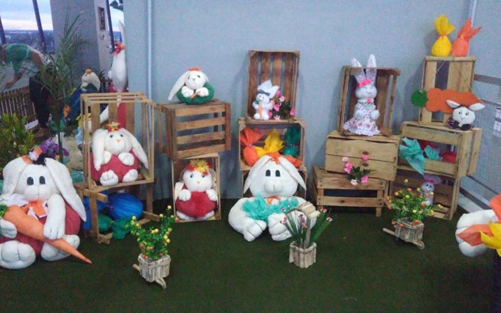 Decoração de Páscoa é aberta para visitação