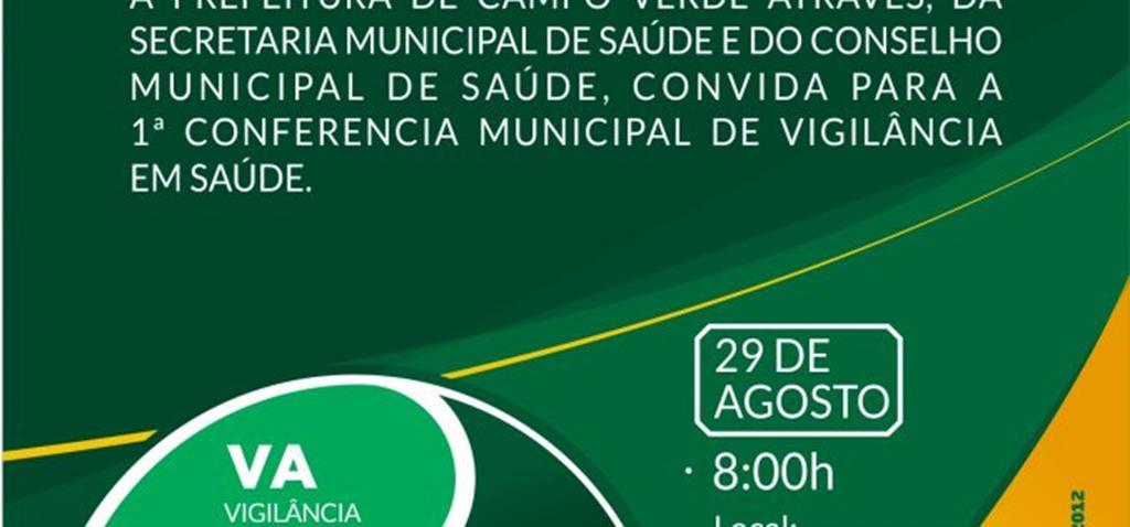 Campo Verde realiza Conferência Municipal de Vigilância em Saúde no dia 29