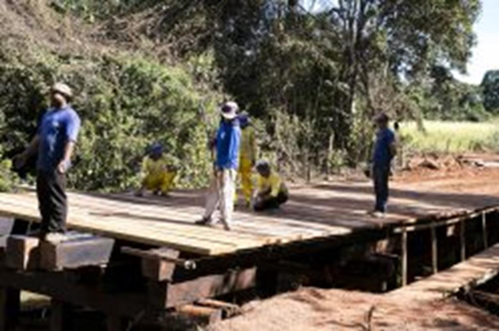 Prefeitura recuperou cinco pontes no mês de julho