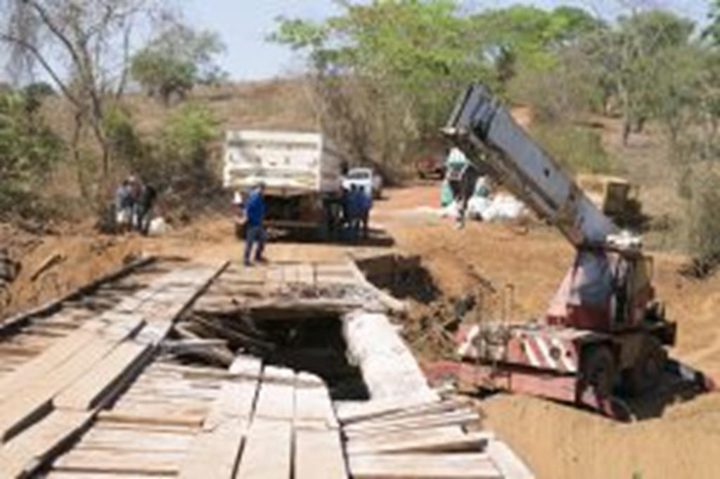 Ponte do Rio Peraputanga será totalmente reconstruída
