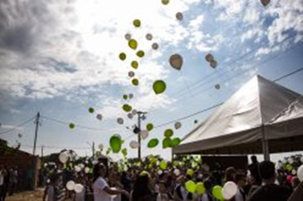 No Dia da Árvore, sementes são lançadas em balões