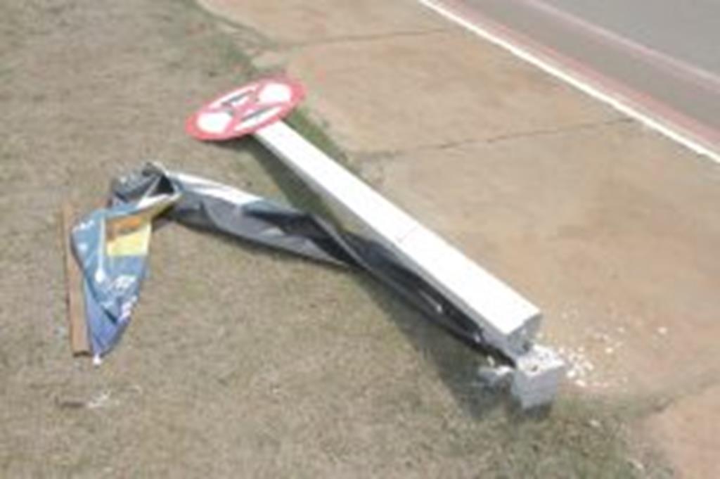 Prefeitura pede investigação sobre danos à sinalização de trânsito na Mato Grosso