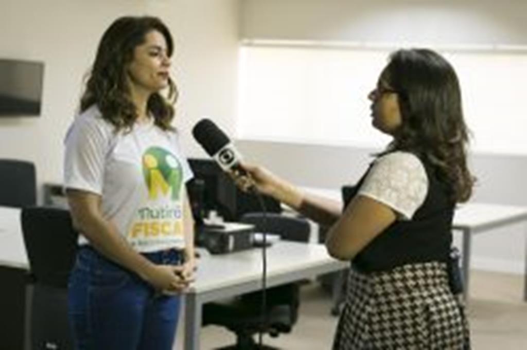 """Em entrevista à TV Centro América, secretária de Fazenda de Campo Verde fala sobre o """"Mutirão Fiscal e de Recadastramento"""""""