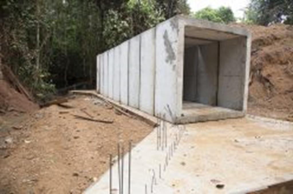 Prefeitura substitui ponte por galeria no Santo Antônio da Fartura