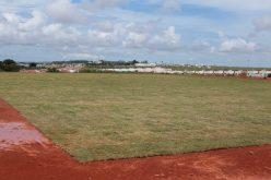 Campo de futebol suíço está sendo construído no Parque dos Pássaros