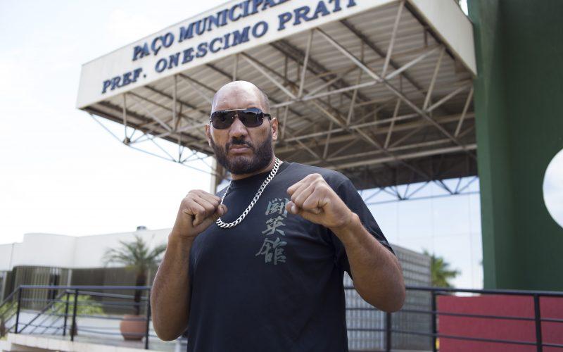 """Lutador internacional, """"Montanha"""" Silva quer implantar projeto social em Campo Verde"""