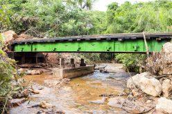 Prefeitura utiliza estrutura de aço em reconstrução de ponte na região da Serrinha