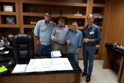 Prefeito Fábio se reúne com Nelson Barbudo e Silvio Favero e pede apoio para pavimentação do Distrito Industrial II