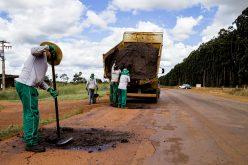 Prefeitura de Campo Verde inicia recuperação da MT-344