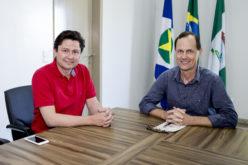 Prefeito Fábio recebe a visita do prefeito de Palotina, Jucenir Stentzler