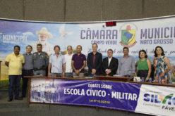 Prefeito confirma possibilidade de implantação de escola cívico-militar em Campo Verde