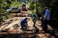 Ponte é reformada na região do Capim Branco