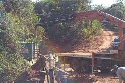 Ponte começa a ser recuperada na divisa com Dom Aquino