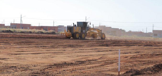 Miniestádio começa a ser construído no Residencial Greenville