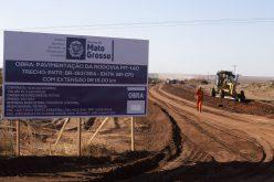 Governo inicia pavimentação de 15 quilômetros da MT-140 em Campo Verde