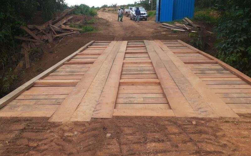 Mais uma ponte é recuperada na zona rural de Campo Verde
