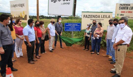 Pavimentação é inaugurada e rodovia CV-010 passa a ter nome de pioneiro