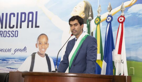 Alexandre Lopes é empossado prefeito de Campo Verde e anuncia parte do secretariado